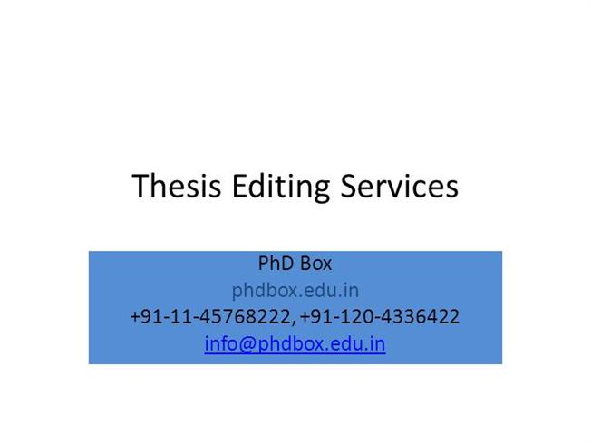 thesis editing services When editing thesis, research paper or dissertation, we look at coherence and cohesiveness of take advantage of our supreme professional editing services at thesiseditorcouk and avoid being.