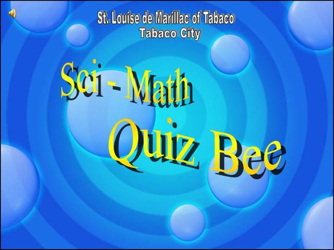 Quiz bee presentation authorstream download post to toneelgroepblik Images