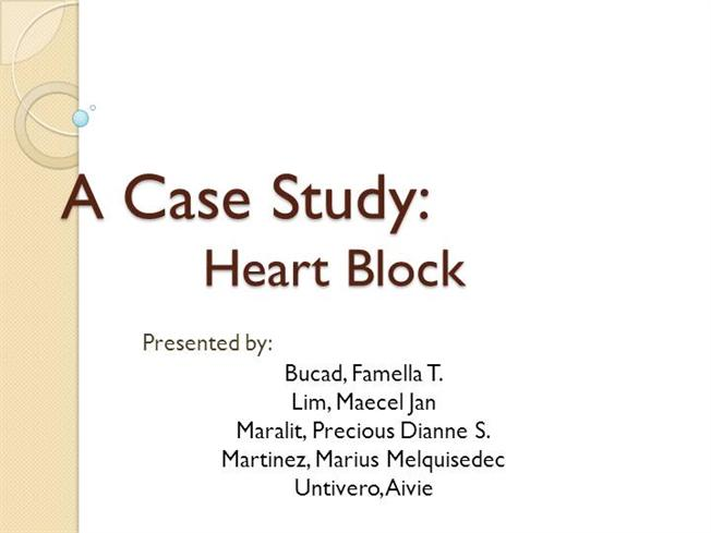 complete heart block case study Basic ekg dysrhythmia identification by andrea diane posey the programs should include validation of dysrhythmia interpretation skills and problem solving of case studies permanent pacing for chronic complete heart block instant feedback.