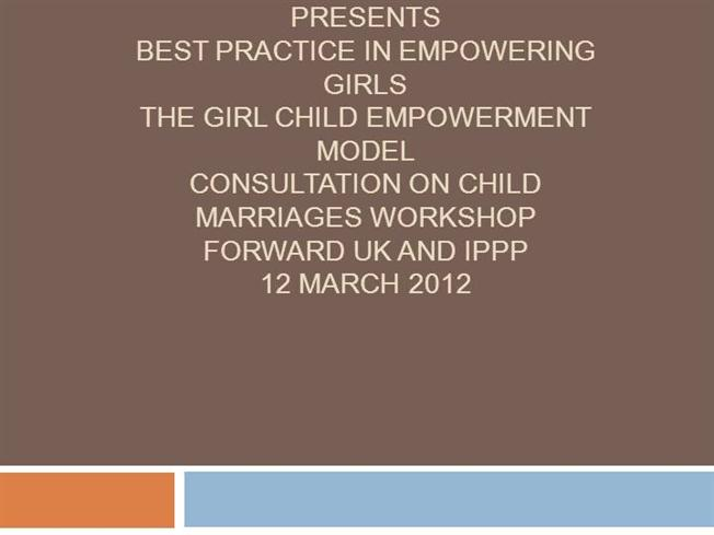 empowerment on girl child Benefits of economic empowerment  increasing women and girls' education contributes to higher economic growth  219 countries from 1970 to 2009 found that, for every one additional year of education for women of reproductive age, child mortality decreased by 95 per cent.