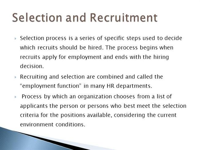 barclays recruitment and selection process in hrm Contact your service center or departmental human resources coordinator for assistance  each committee member is expected to be well versed in the recruitment and selection process and have an understanding of laws related to affirmative action and equal employment opportunity.