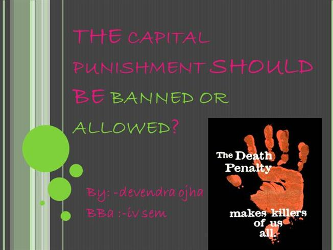 Death penalty should be banned essay