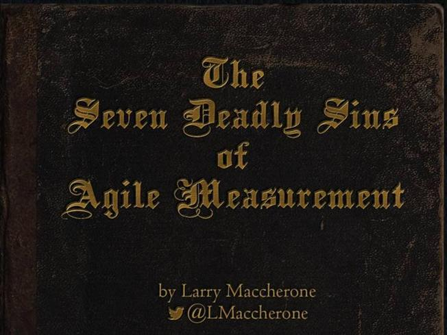 7 deadly sins of performance measurement The intelligent pathway blog is an informal channel for sharing our ideas and experiences in the areas of business intelligence, performance management, analytics.