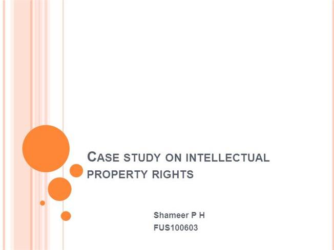 intellectual property study case