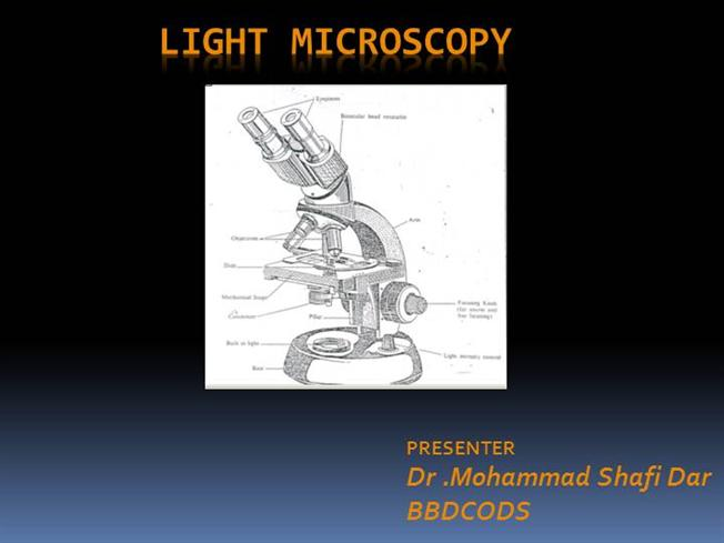 how to use a microscope powerpoint