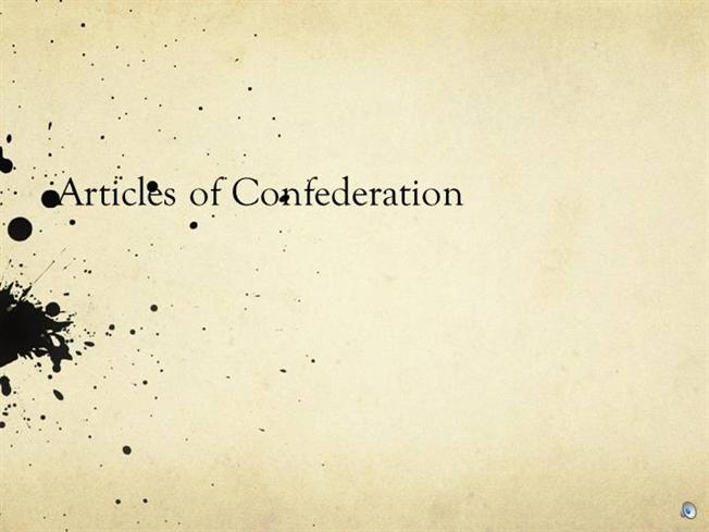 articles of confederation essay outline