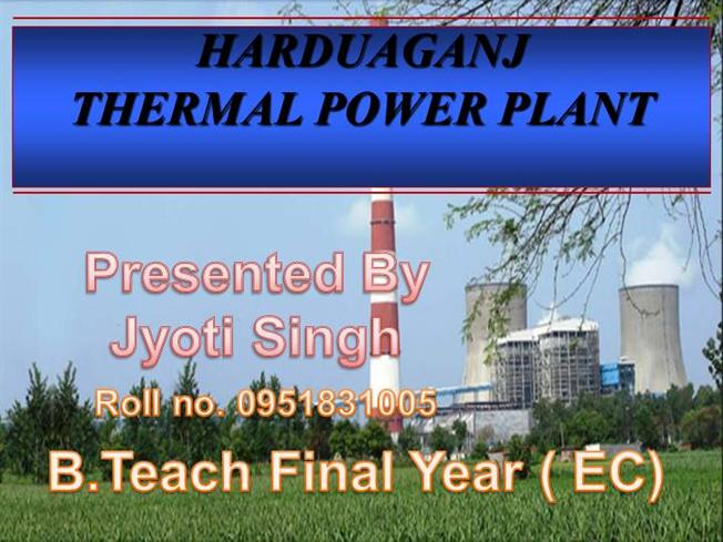 components of thermal power plant ppt free download