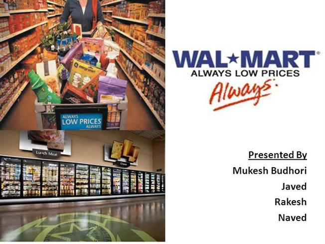 wal mart final presentation essay Download case study on wal-mart's supply chain management practices case study resources in business strategy and other management education subjects.