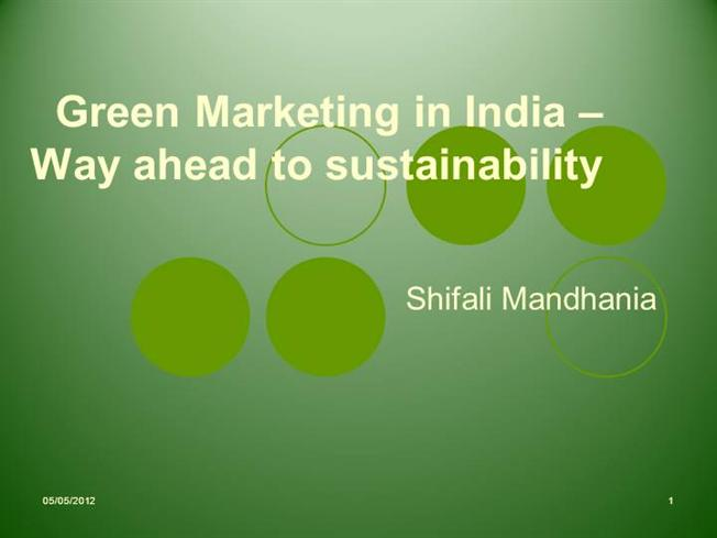 an introduction to green marketing Do you think business is all about profits do you think business marketing is all about tips, tricks and techniques used to sell ideas, products or services to the customers.