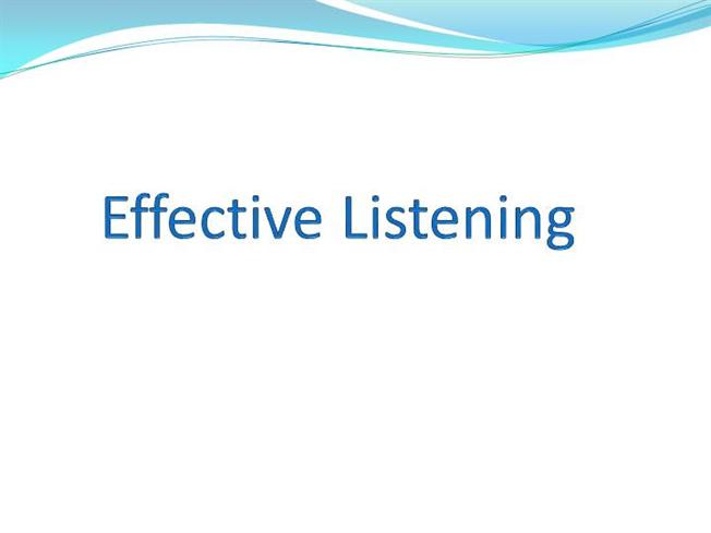 effective listening Effective listening skills [dennis kratz, abby robinson kratz] on amazoncom free shipping on qualifying offers the business skills express series covers a broad range of key business skills and topics in a fast.