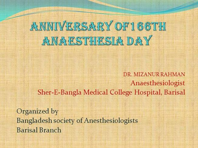 history of anesthesia essay Anesthesia this research paper anesthesia and other 64,000+ term papers, college essay examples and free essays are available now on reviewessayscom autor: review • september 17, 2010 • research paper • 2,976 words (12 pages) • 827 views.