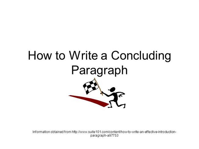how to write a conclusion statement