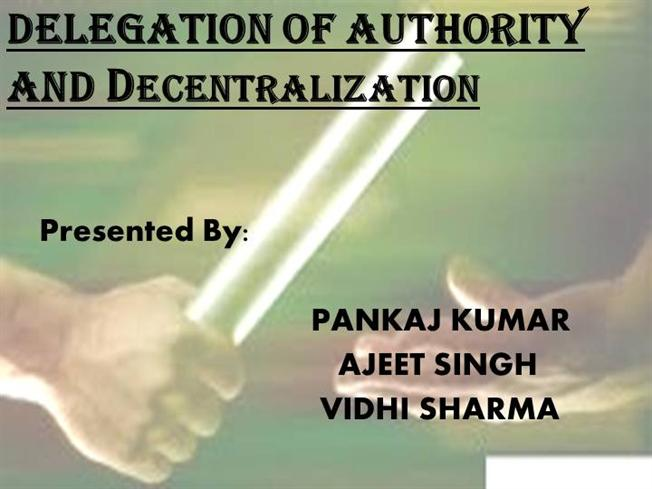essay on delegation of authority