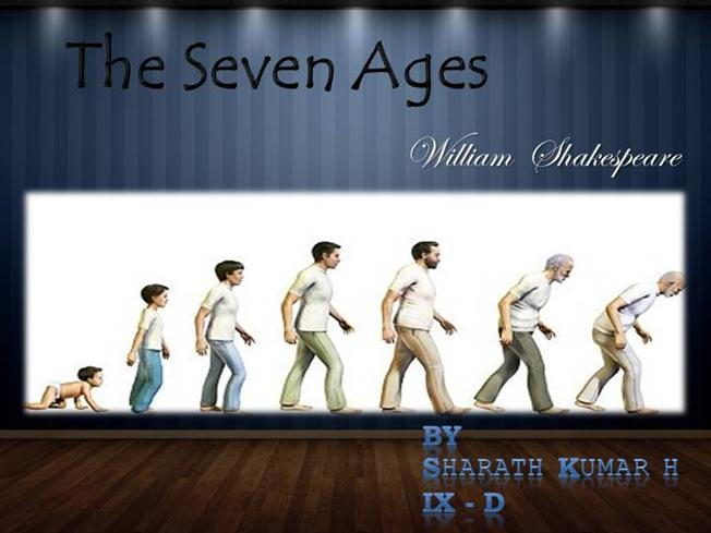 Seven Ages of Man William Shakespeare The Seven Ages of Man Poem by