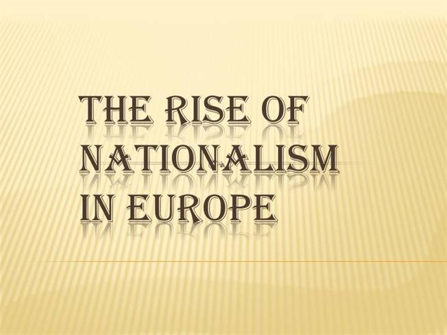 the rise of nationalism in europe essay Second article applies to the rise of african nationalism between 1945 and 1965   these two essays were presented in a slightly different form as part of a.