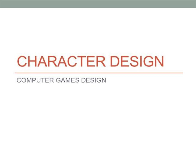 Character Design Presentation : Character design authorstream