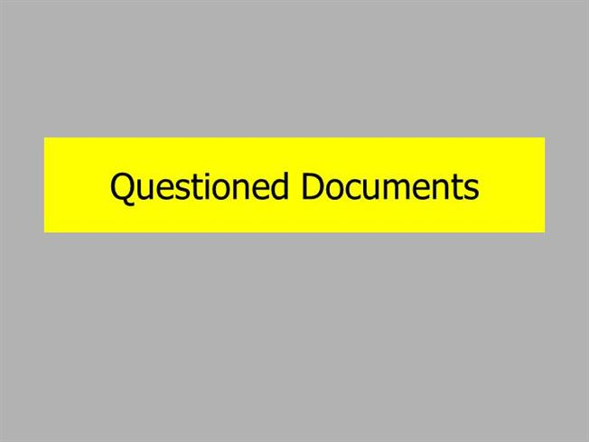 introduction to forensic science questioned documents With questioned documents forensic science ppt