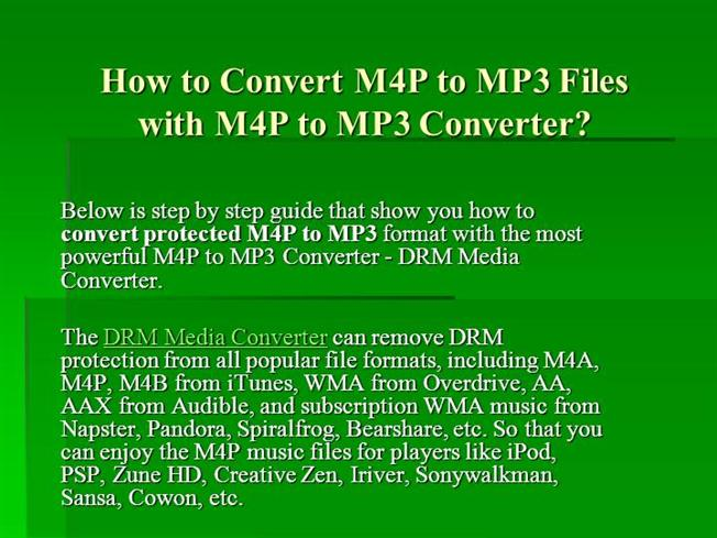 how to convert m4p to mp3 for free