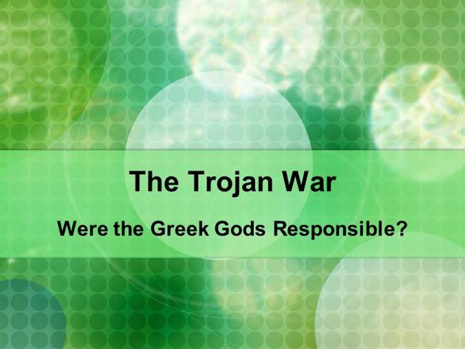 the trojan war gods essay Trojan war was the greatest war in greek mythology and literature story of the ten-years war fought between the greeks and the trojans.