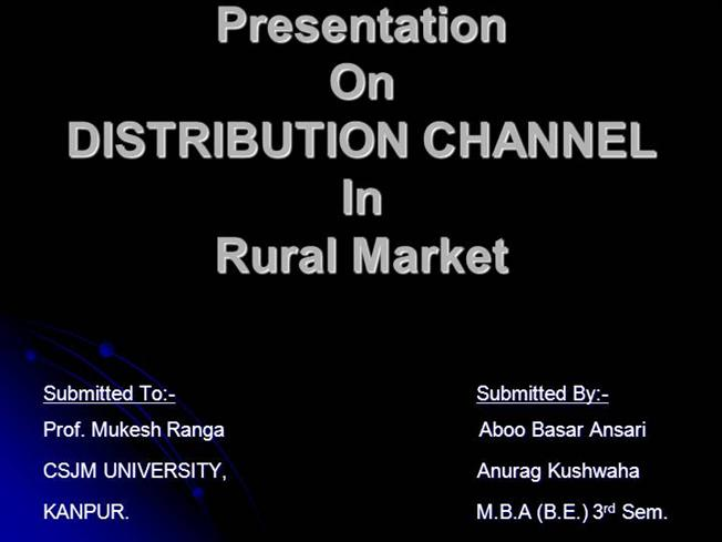 Rural Marketing - In Indian Economy