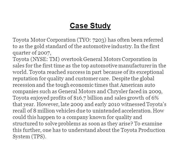 toyota manufacturing company essay