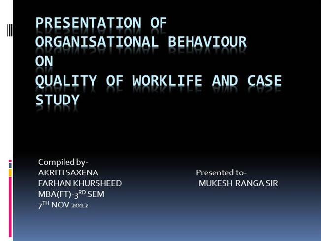quality of work life thesis Int journal of economics and management 5(1): 266 – 282 (2011) issn 1823 - 836x quality of work life among male and female employees of private commercial banks in bangladesh ayesha tabassuma, tasnuva rahmanb and kursia jahanc a,b,ceastern university, dhaka, bangladesh abstract.