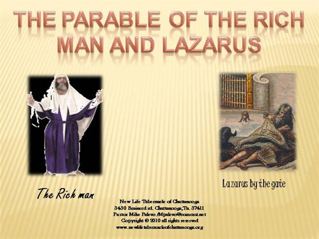 the rich man and lazarus essay This very important essay it may not fully resolve all the  scripture concerning  the rich man and lazarus or arrive at a satisfactory conclusion as to the state.
