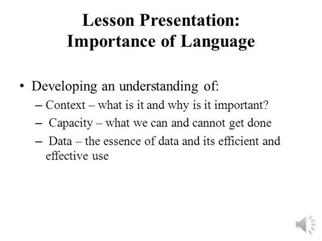 importance of language to develop the