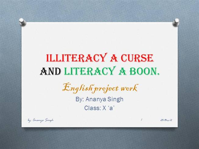 importance of literacy in hindi