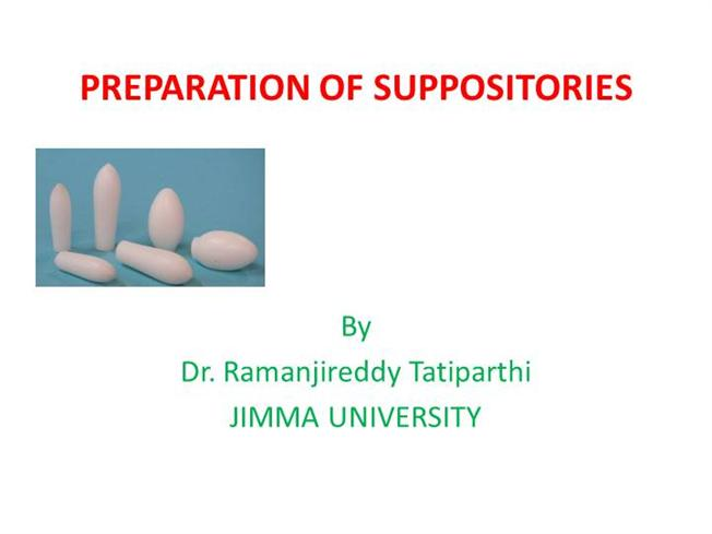 preparation of suppositories