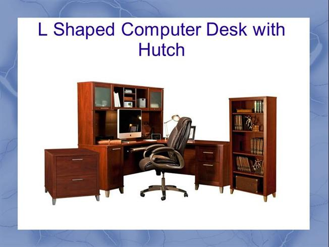 l shaped computer desk with hutch authorstream. Black Bedroom Furniture Sets. Home Design Ideas