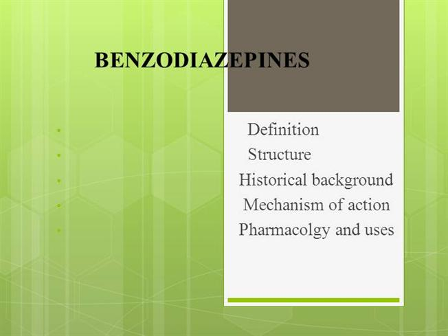 benzodiazepines mechanism of action pdf