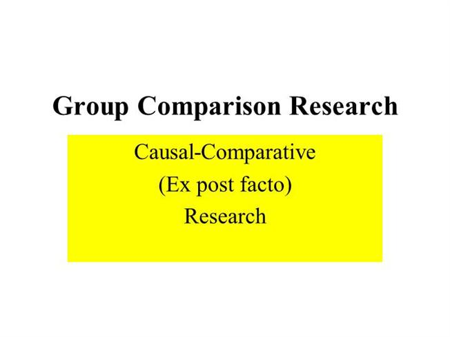 comparative analysis research paper