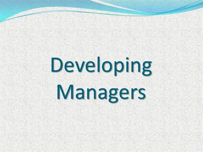 developing manager If you want to climb the corporate ladder, you need to work on developing management skills here you will learn how to manage at each stage of your career.