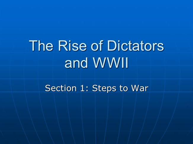 the rise of new dictators after the first world war Narrator: the first world war, from 1914 to 1918, was fought throughout europe and beyond it became known as the war to end all wars narrator: the humiliation of germany's defeat and the peace settlement that followed in 1919 would play an important role in the rise of nazism and the.