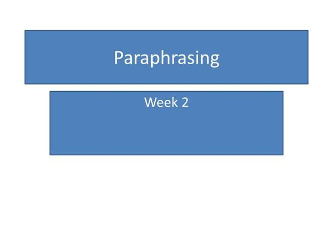 Paraphrasing powerpoint background
