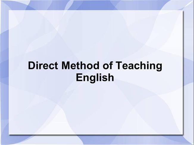 direct teaching essays