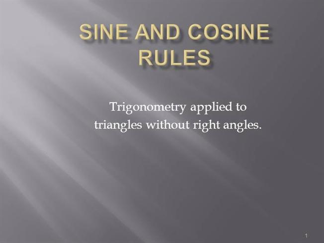proof of sine and cosine rule pdf