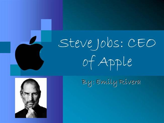 Steve jobs presentation authorstream for Steve jobs powerpoint template