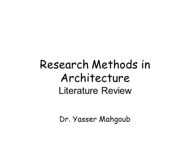 business research methods literature review