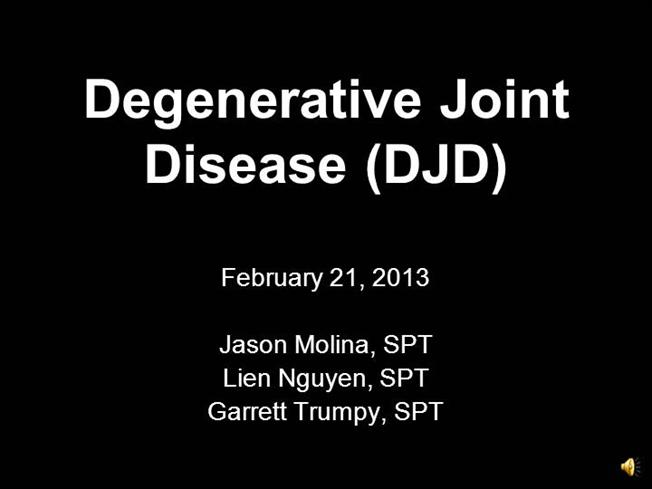 what is djd in medical terms