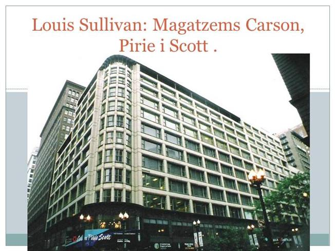 louis sullivan and the carson pirie