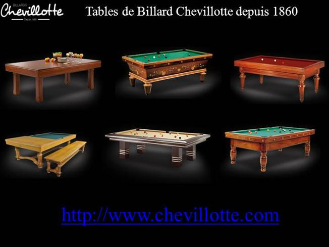 Table de billards mod les moderne chevillotte authorstream - Comment fabriquer une table de billard ...