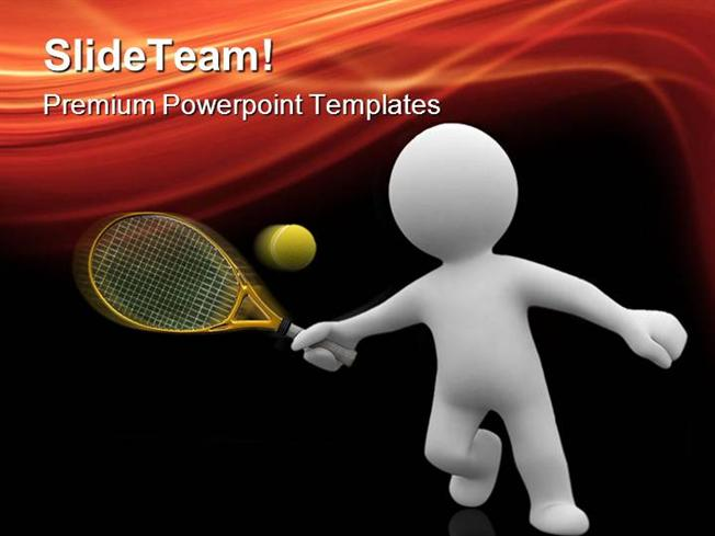 tennis sports powerpoint templates and powerpoint backgrounds ppt authorstream. Black Bedroom Furniture Sets. Home Design Ideas
