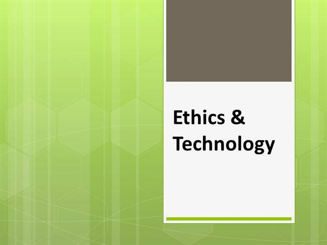 ethics in technology Reflective paper on ethics in technology reflective paper instructions consider this as a reflective paper on class learning as it applies to ethics in information technology.