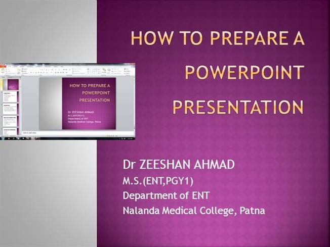 how to prepare a powerpoint presentation Powerpoint presentations are effective for conveying information to audiences in visual format but still require citation of sources properly citing sources will protect you from plagiarizing while also lending credibility to your own work.