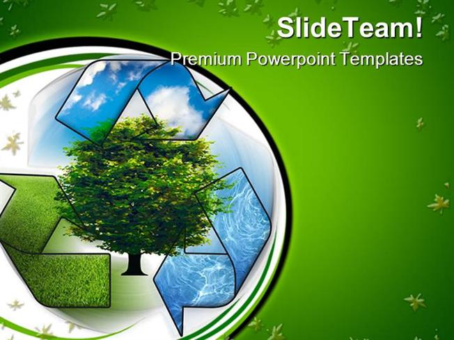 recycle and clean environment powerpoint templates and