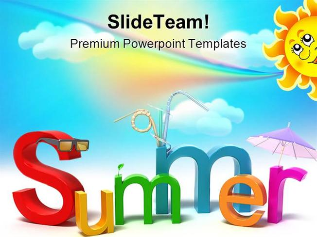 summer holidays powerpoint templates and powerpoint