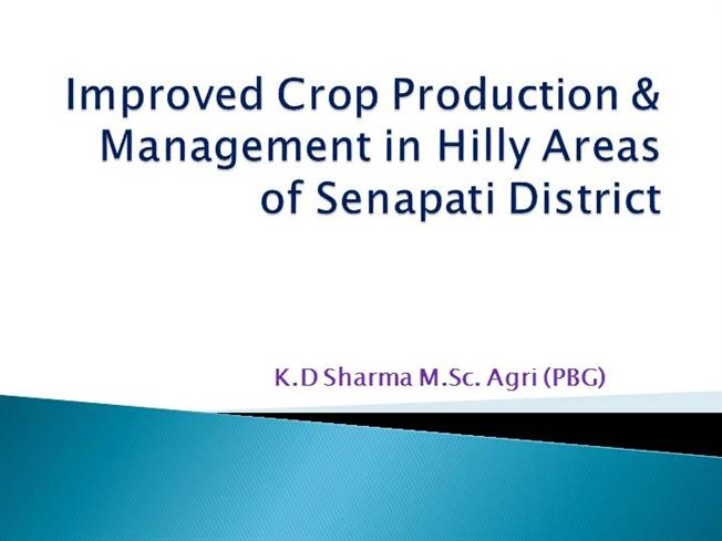 crop production and management Crop production management is the processes that are used to effectively cultivate and harvest crops, such as the preparation of.