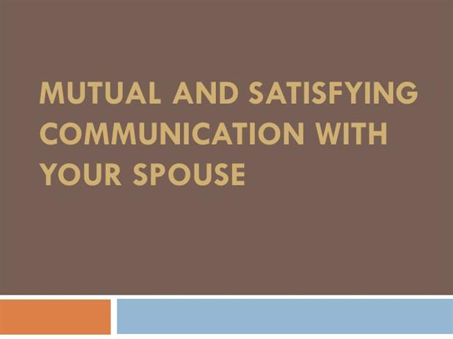 communication and your spouse For example, you can set up a dedicated email address for communicating with  your spouse, and check it just once or twice a day you can.
